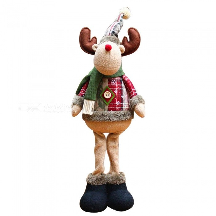 P-TOP Elk Doll for Christmas Xmas Tree Decoration, Best GiftChristmas Gadgets<br>Form  ColorRed + Green + Gray + White - Elk DollMaterialFlannelQuantity1 DX.PCM.Model.AttributeModel.UnitSuitable holidaysChristmasPacking List1 x Christmas Doll<br>