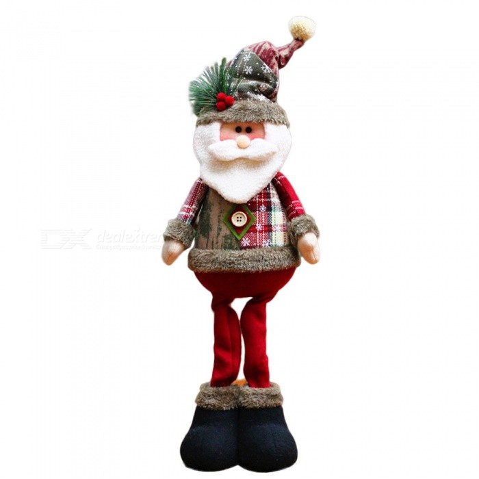 P-TOP Santa Claus Doll for Christmas Xmas Tree Decoration, Best GiftChristmas Gadgets<br>Form  ColorRed + Green + Gray + White - Santa ClausMaterialFlannelQuantity1 DX.PCM.Model.AttributeModel.UnitSuitable holidaysChristmasPacking List1 x Christmas Doll<br>