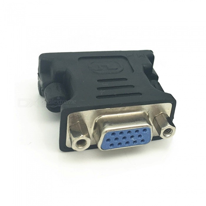 Dayspirit DVI 24+5 Male to VGA Female Adapter Connector - BlackAV Adapters And Converters<br>Form  ColorBlackModelN/AMaterialABSQuantity1 DX.PCM.Model.AttributeModel.UnitShade Of ColorBlackConnectorVGA,DVIPacking List1 x Adapter<br>