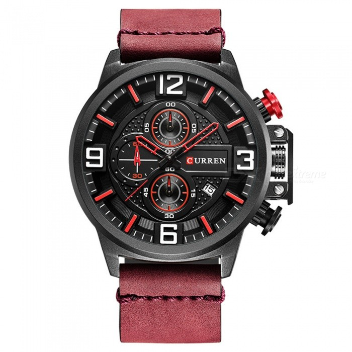 CURREN 8278 Mens Cool Stylish Quartz Wrist Watch - RedQuartz Watches<br>Form  ColorRedModel8278Quantity1 DX.PCM.Model.AttributeModel.UnitShade Of ColorRedCasing MaterialAlloyWristband Material-Suitable forAdultsGenderUnisexStyleWrist WatchTypeFashion watchesDisplayAnalogBacklightnoMovementQuartzDisplay Format12 hour formatWater ResistantFor daily wear. Suitable for everyday use. Wearable while water is being splashed but not under any pressure.Dial Diameter5.3 DX.PCM.Model.AttributeModel.UnitDial Thickness1.3 DX.PCM.Model.AttributeModel.UnitWristband Length25.5 DX.PCM.Model.AttributeModel.UnitBand Width2.3 DX.PCM.Model.AttributeModel.UnitBattery626Packing List1 x Watch<br>