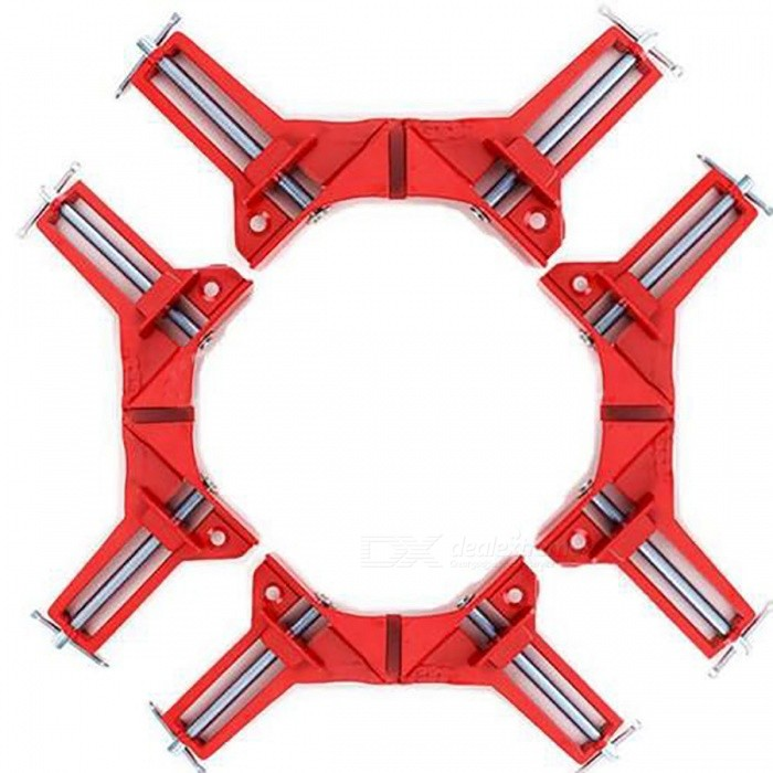 4Pcs-75mm-Mitre-Corner-Clamps-Woodwork-Right-Angle-Clip-Picture-Frame-Holder-Red