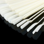 50Pcs Clear Natural False Nail Art Tips Display, Fan Board Polish UV Gel Decoration Practice Round Hoop Sticks