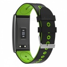 "S13 0.96 "" OLED Sports Smart Bracelet with Blood Pressure Heart Rate Monitoring - Green + Black"