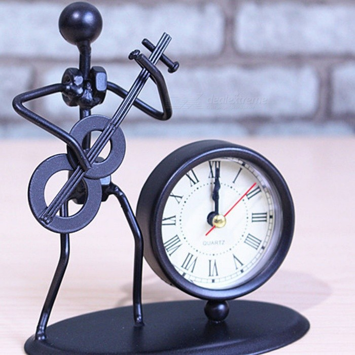 Music-Iron-Man-Clock-Metal-Crafts-for-Home-Decoration-Creative-Student-Birthday-Gift