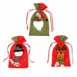 P-TOP-3Pcs-Santa-Claus-Gift-Candy-Bags-Bauble-for-Kids-Xmas-Christmas-Tree-Ornament-Random-Color