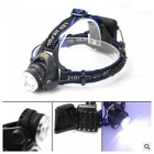 ZHAOYAO Outdoor Waterproof LED Headlamp Headlight for Camping, Fishing, Riding, Hunting - Black + Blue