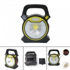 P-TOP Portable Handheld 300LM Cold White COB Lamp, USB Rechargeable Work Light Camping Lantern - Yellow + Black
