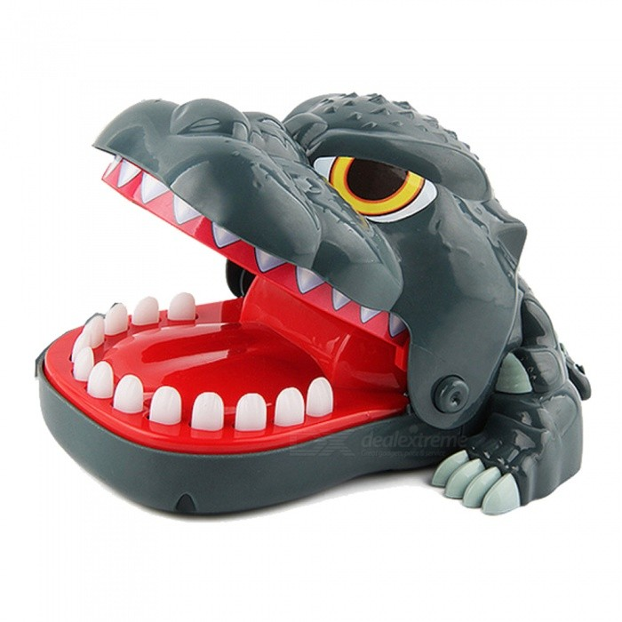 Creative Desktop Dinosaur Biting the Hand Game Tricky Toy for Kids - Dark Green + Multicolor