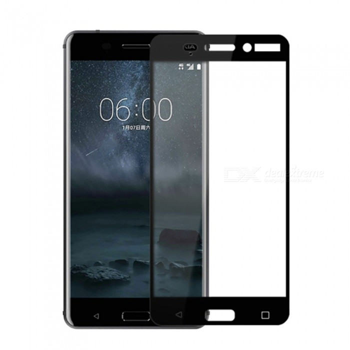 Naxtop Tempered Glass Full Screen Protector for Nokia 6 - BlackScreen Protectors<br>Form  ColorBlackScreen TypeGlossyModelN/AMaterialTempered GlassQuantity1 pieceCompatible ModelsNokia 6Features2.5D,Fingerprint-proof,Scratch-proof,Tempered glassPacking List1 x Tempered glass film1 x Wet wipe1 x Dry wipe1 x Dust absorber<br>