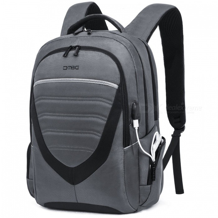 DTBG D8006W 17.3 Laptop Storage Backpack with USB Charging Port College Daypack School Bag - GreyBags and Pouches<br>Form  ColorGrey (17.3)ModelD8006WQuantity1 pieceShade Of ColorGrayMaterialNylonCompatible Size17.3 inchTypeBackpacks,Tote BagsPacking List1 x Backpack<br>