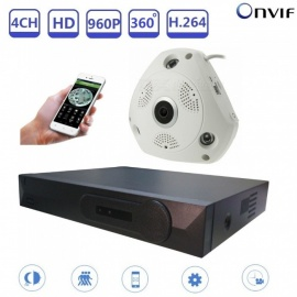 STRONGSHINE-4CH-960P-HD-Network-Video-Recorder-NVR-and-360-Degree-Fisheye-IP-Camera-w-Night-Vision