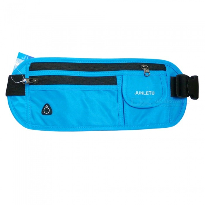 Outdoor Sports Running Portable Nylon Waist Bag for Cell Phone, Wallet, Cards and Other Small Items - BlueBike Bags<br>Form  ColorBlack + BlueQuantity1 pieceMaterialNylonTypeOthers,Fanny packCapacity1 LWaterproofYesGenderUnisexBest UseCycling,Mountain Cycling,Recreational Cycling,Road Cycling,Triathlon,Bike commuting &amp; touringPacking List1 x Bag<br>