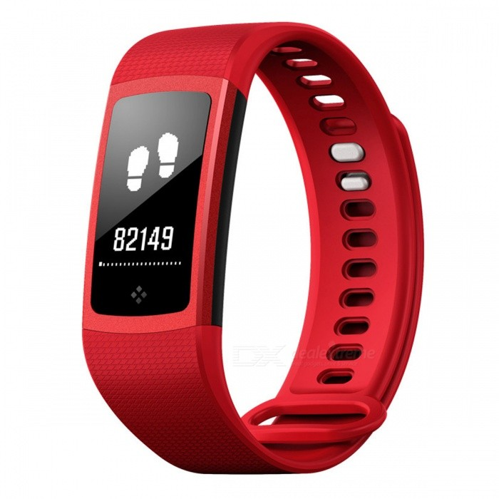 S8 Bluetooth V4.0 Sport Smart Bracelet with Step Counter, Heart Rate, Blood Pressure Monitor - RedSmart Bracelets<br>Form  ColorRed + BlackModelS8Quantity1 DX.PCM.Model.AttributeModel.UnitMaterialPlasticShade Of ColorRedWater-proofIP67Bluetooth VersionBluetooth V4.0Touch Screen TypeYesOperating SystemNoCompatible OSAndroid4.0 (contain), IOS7.0 contain) aboveBattery Capacity80 DX.PCM.Model.AttributeModel.UnitBattery TypeLi-polymer batteryStandby Time7 DX.PCM.Model.AttributeModel.UnitPacking List1 x Smart bracelet 1 x Manual<br>