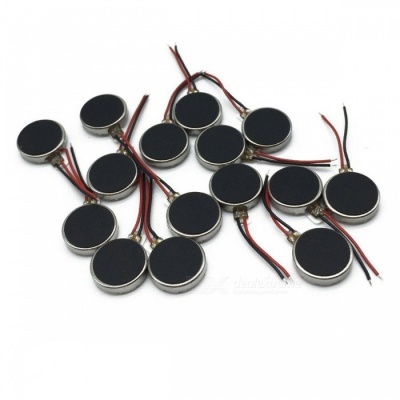 DC 3V 12000RPM Two Wired 10mm x 2mm Coin Cell Phone Vibration Motor (15 PCS)