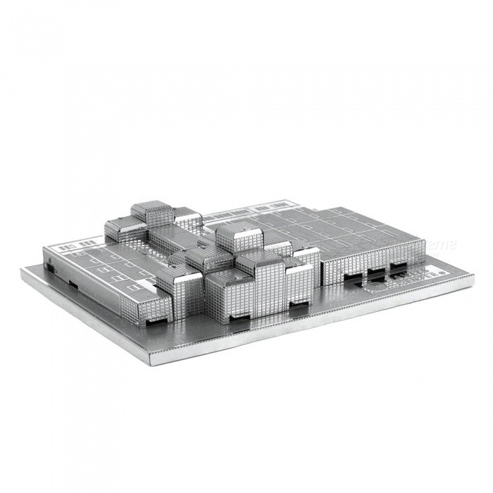 DIY Jigsaw Puzzle, 3D Stainless Steel Metal Famous Buildings Javits Convention Center Assembled Model Toy - SilverBlocks &amp; Jigsaw Toys<br>Form  ColorSilverMaterialStainless steelQuantity1 setNumber2Size7.4cm*2.1cm*9.8cmSuitable Age 12-15 years,Grown upsPacking List2 x Model boards<br>