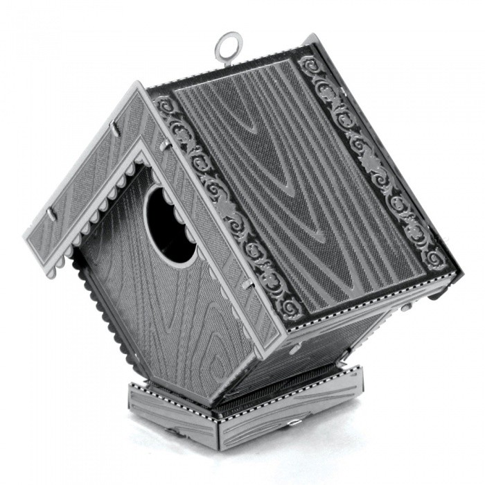 DIY Puzzle, 3D Stainless Steel Metallic Bird House Assembly Model Educational Toy, Gift, Home Decoration - SilverBlocks &amp; Jigsaw Toys<br>Form  ColorSilverMaterialStainless steelQuantity1 setNumber1Size4.5cm*2.4cm*4.1cmSuitable Age 8-11 years,12-15 years,Grown upsPacking List1 x Model board<br>