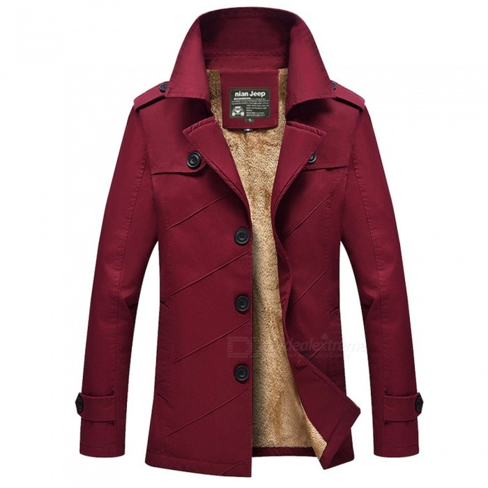 Casual Fashion Mens Thickening Cashmere Zipper Jacket Coat for Outdoor Winter - Wine Red (M)Jackets and Coats<br>Form  ColorClaret RedSizeMModel1111ZQuantity1 DX.PCM.Model.AttributeModel.UnitShade Of ColorRedMaterialCotton and polyesterStyleFashionTop FlyZipperShoulder Width44.6 DX.PCM.Model.AttributeModel.UnitChest Girth104 DX.PCM.Model.AttributeModel.UnitWaist Girth104 DX.PCM.Model.AttributeModel.UnitSleeve Length60 DX.PCM.Model.AttributeModel.UnitTotal Length73.5 DX.PCM.Model.AttributeModel.UnitSuitable for Height165 DX.PCM.Model.AttributeModel.UnitPacking List1 x Jacket<br>