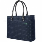DTBG-D8209W-156-Nylon-Casual-Womens-Laptop-Tote-Bag-Durable-Handbag-(Blue-with-Green-Dot)