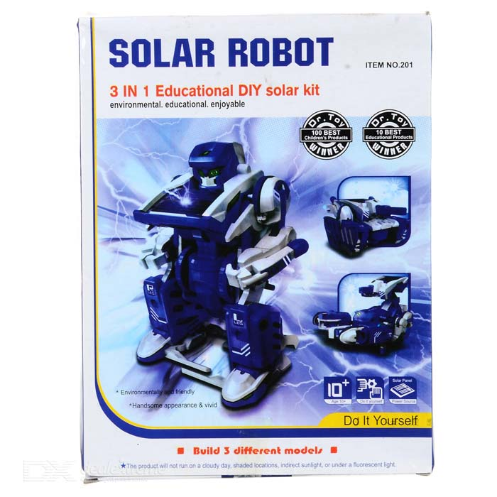 3-in-1 Transforming Solar Robot DIY Toy Assembly Kit ...