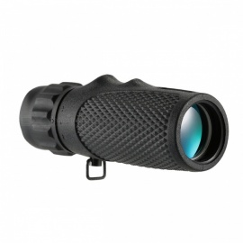Mini Portable Handheld 10x25 High Definition Compact Monocular Pocket Telescope - Black