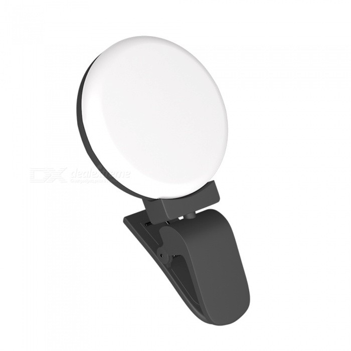 OJADE Mini Clip-On LED Selfie Self-Timer Photography Light, Fill-in Flash Lamp for Live Broadcast - Black for sale in Bitcoin, Litecoin, Ethereum, Bitcoin Cash with the best price and Free Shipping on Gipsybee.com