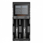FOLOMOV-A2-High-Current-Quick-Charge-Dual-Slot-Battery-Charger-w-LCD-Display-Black-(US-Plug)