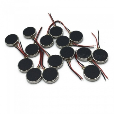 DC 3V 12000RPM Two Wired 10mm x 2.7mm Coin Cell Phone Vibration Motor (15 PCS)