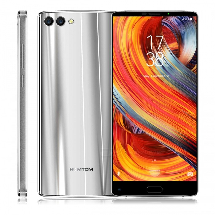 "HOMTOM S9 Plus Android 7.0 4G 5.99"" IPS Phone with 4GB RAM, 64GB ROM - Sliver (EU Plug)"
