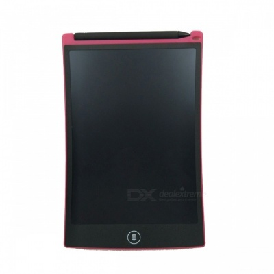 """8.5"""" LCD Writing Tablet Drawing Board, Paperless Digital Notepad Support Screen Clear Lock - Deep Pink"""