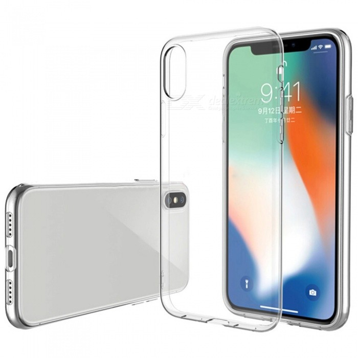 ASLING Ultra-thin Slim Soft Clear TPU Anti-Scratch Protective Back Case for IPHONE X