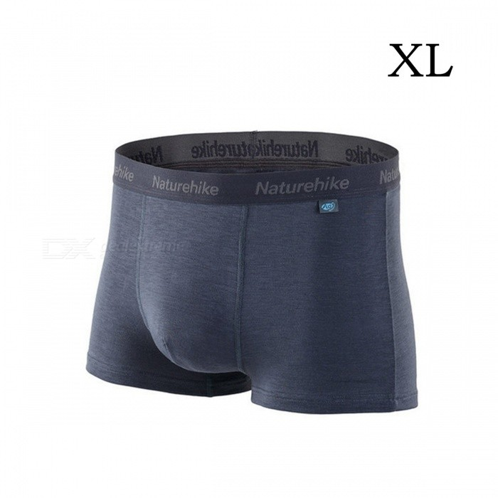 NatureHike Premium Soft Cotton Antibacterial Breathable Mens Fast Dry Boxer Underwear Underpants - Gray (XL)Pants and Shorts<br>Form  ColorGreySizeXLModelNH03Y017-NQuantity1 setShade Of ColorGrayMaterialPolyester fiber, cotton fiber, cotton spandexStyleOthers,BoxerWaist Girth78 cmInseam16 cmHip Girth96 cmCrotch Length28 cmThigh Girth47 cmTotal Length28 cmSuitable for Height175-185 cmPacking List1 x Underpants<br>