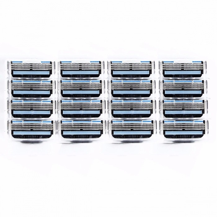 Replacement Razor Blades Head Best Face Care for Men Shaving Blades Mache3 Suitable L-DB3b (16pcs/lot) White + Blue + Multicolored