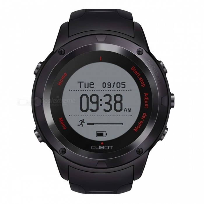 "CUBOT F1 1.2"" LCD Stylish Bluetooth V4.0 Smart Watch with Hear Rate, Sleep Monitoring - Black"