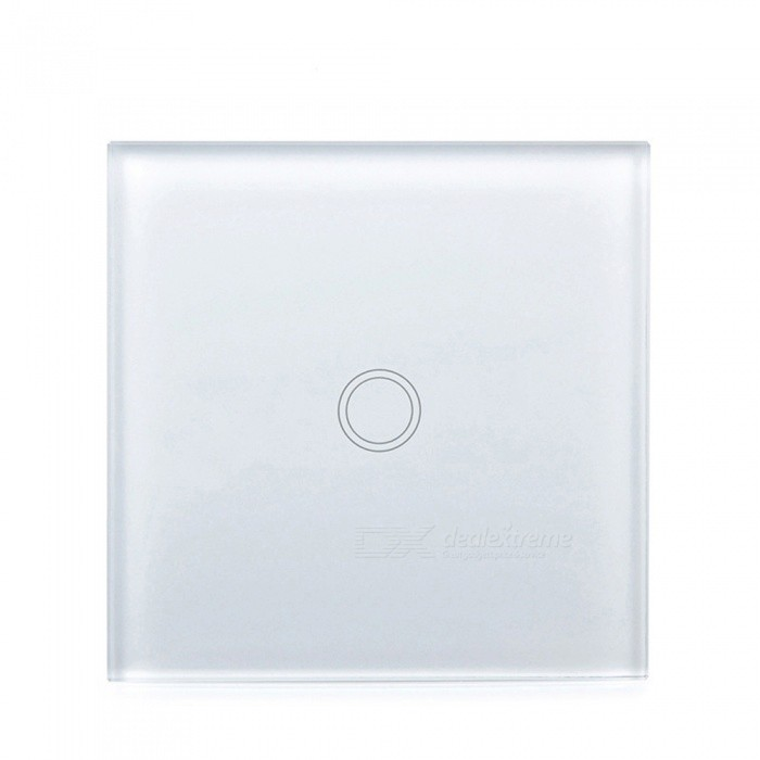 P-TOP 2-Way Control EU Standard Crystal Glass Panel Wall Switch, Waterproof Sensor Light Switch - WhiteHome Smart Devices<br>Form  ColorWhiteQuantity1 setMaterialTempered Glass+ABSRate Voltage170-240VPower AdapterEU PlugPacking List1 x Remote Control Switch1 x Screw1 x Capacitor1 x Product Manual<br>
