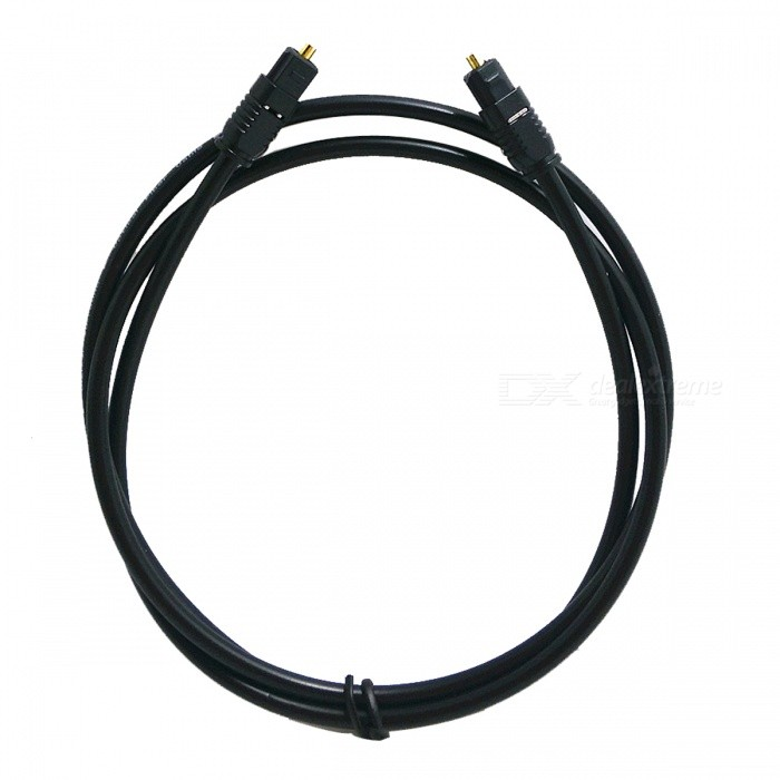 Digital Optical Fiber Optic Toslink Audio Cable - Black (1M-Length)
