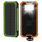 Tollcuudda Portable 10000mAh Mobile Solar Powerbank Power Bank, External Battery Charger for Xiaomi, IPHONE, and More Phones