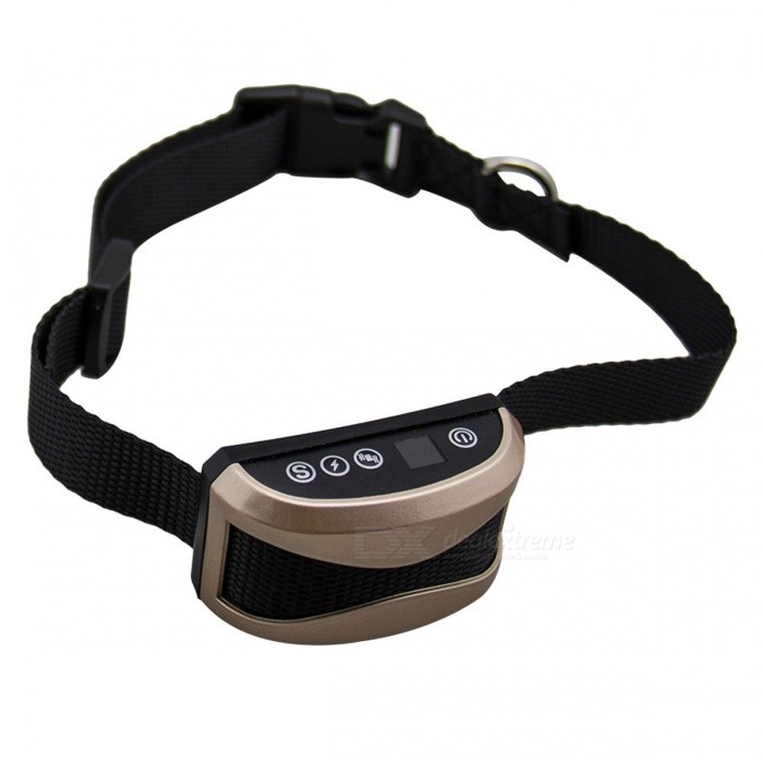 P-TOP Rechargeable Anti Barking Collar with Charging Adapter - Rainproof Harmless Shock or No Vibration Anti Bark