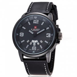 NAVIFORCE-9028-Mens-Sports-PU-Leather-Wrist-Quartz-Watch