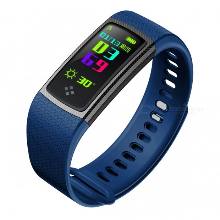 S9 Sports Intelligent Smart Bracelet Wristband with Blood Oxygen, Blood Pressure, Heart Rate Monitor - Blue + BlackSmart Bracelets<br>Form  ColorBlue + BlackQuantity1 DX.PCM.Model.AttributeModel.UnitMaterialABSShade Of ColorBlueWater-proofIP67Bluetooth VersionBluetooth V4.0Touch Screen TypeYesCompatible OSAndroid 4.3 and above or iOS 8.0 and aboveBattery Capacity90 DX.PCM.Model.AttributeModel.UnitBattery TypeLi-polymer batteryStandby Time5-7 DX.PCM.Model.AttributeModel.UnitPacking List1 x Smart Bracelet1 x Charging cable1 x User Manual<br>