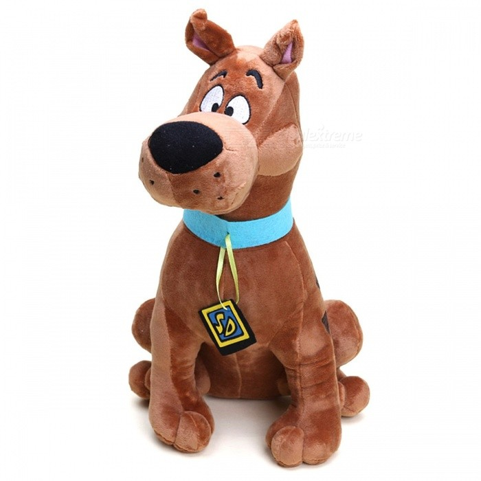 Anime Cute Funny Cartoon Soft Plush Scooby Doo Dog Doll Toy 33cm Great Christmas Gift for Children Kids Brown