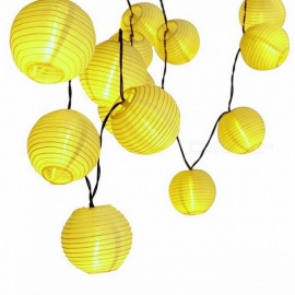 Holigoo 30-LED Lantern Ball Solar Powered String Lights for Outdoor Lighting, Fairy Globe Christmas Decorative Light for Party Warm White