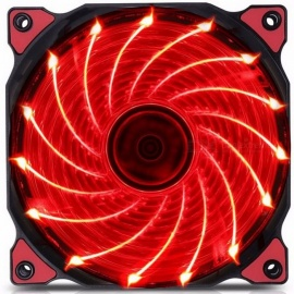 120mm LED Ultra Silent Computer PC Case Fan 15 LEDs 12V With Rubber Quiet Molex Connector Easy Installed Fan Red Light