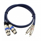 2-Meters-Dual-Cannon-XLR-Female-to-Dual-RCA-Male-Audio-Cable