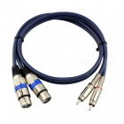 15-Meters-Dual-Cannon-XLR-Female-to-Dual-RCA-Male-Audio-Cable