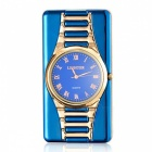 ZHAOYAO-Multifunctional-Ultra-Thin-Slim-Watch-Windproof-USB-Rechargeable-Electronic-Cigarette-Lighter-Blue