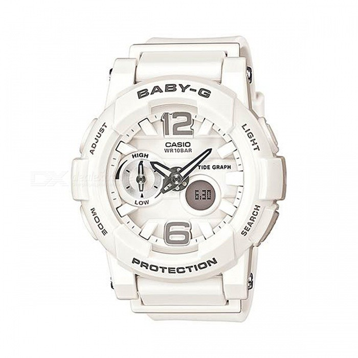 Casio Baby-G BGA-180-7B1 Ladies 100-meter Water Resistance Sport Watch - White