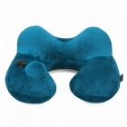 blinblin Portable Folding Lightweight U-Shaped Inflatable Neck Pillow for Travel, Home, Office Use - Blue
