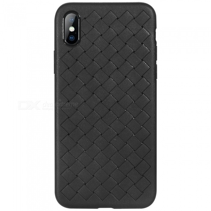 Benks WeaveIt TPU Case for IPHONE X - BlackTPU Cases<br>Form  ColorBlackModelWeaveItQuantity1 pieceMaterialTPUCompatible ModelsiPhone XDesignSolid Color,3D,Special ShapedStyleBack CasesCertificationRoHSPacking List1 x Protective case<br>