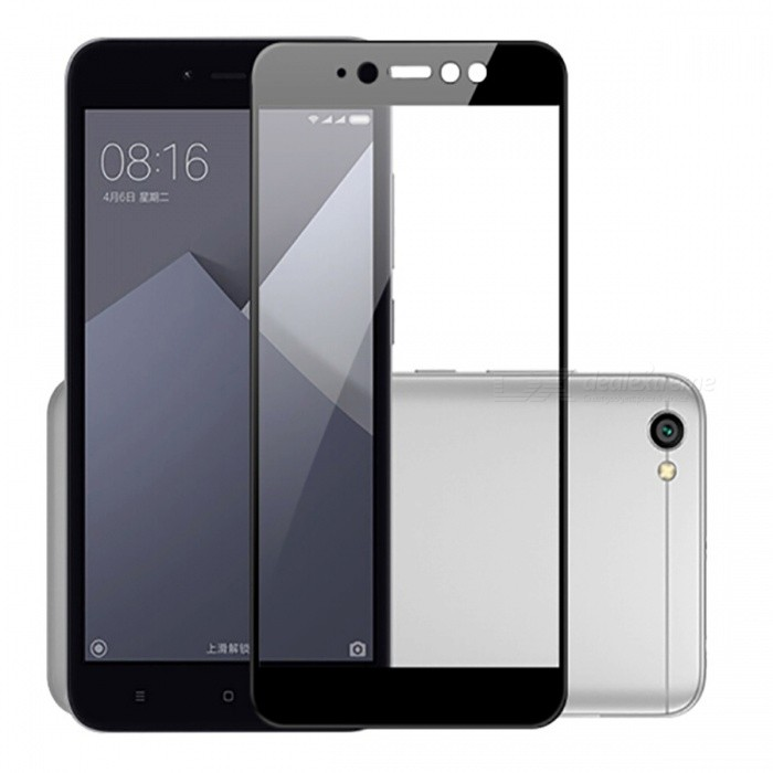 Naxtop Full Screen Protector Tempered Glass for Xiaomi Redmi Y1 - Black