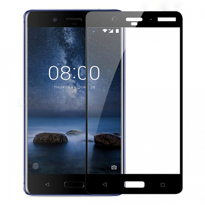 Naxtop Full Screen Protector Tempered Glass for Nokia 8